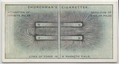 Magnetic Lines Of Force Demonstration Science  Experiment 1920s Trade Ad Card