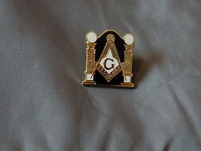Master Mason Lapel Tac  Square Compass Masonic Fraternity Pillars NEW!