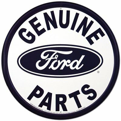 "Genuine Ford Parts Round Tin Sign 12"" X 12"""