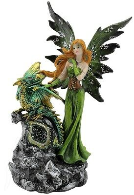 Green Fairy with Dragon Baby