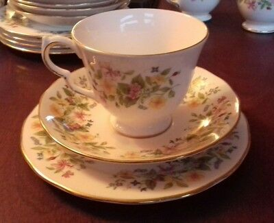 Colclough HEDGEROW Bone China Trio Cup Saucer Plate Floral 8682. More available