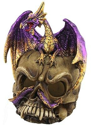Purple Dragon on Skull *FREE POSTAGE*