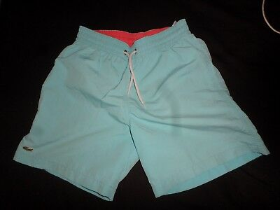 Lacoste  10 Year Old Light Blue Boys Swimming Trunks