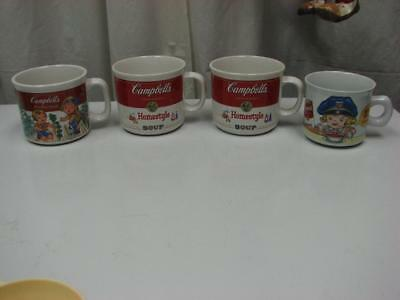4 Collectible Vintage Campbell's Soup Cups Mugs 1997, 2 x 1991, 1993
