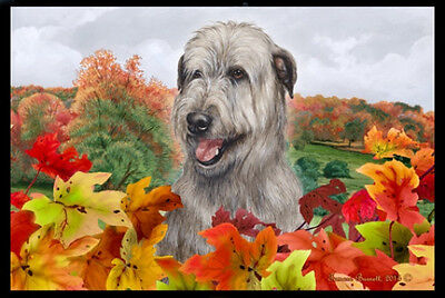 Indoor/Outdoor Fall Floor Mat - Irish Wolfhound 40164
