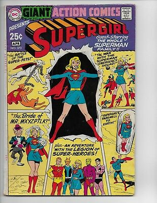 Action Comics 373 - Vg/f 5.0 - Superman - Supergirl - 80 Page Giant- G-57 (1969)