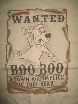 Vintage Hanna Barbara WANTED BOO BOO Known Accomplice of YOGI BEAR (LG) T-Shirt