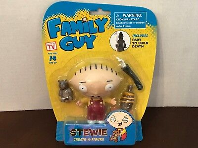 FAMILY GUY Stewie Action Figure  includes a CREATE-A-FIGURE part to build DEATH