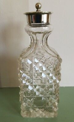 Lovely Vintage/Antique Silver Plate Cut Glass Shaker