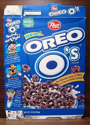 POST ~1995~ NEW! OREO O's ~THE DELICIOUS TASTE OF OREO IN FUN CHRUNCH~CEREAL BOX