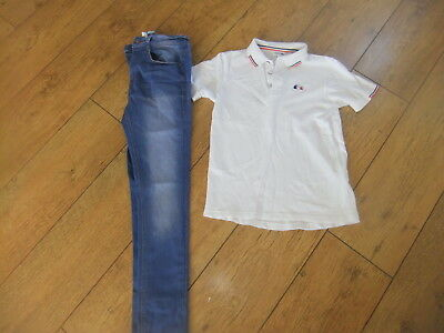 Boys Lacoste Polo Shirt Next Super Skinny Jeans Age 11-12 Years