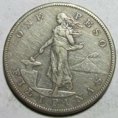 Philippines, Peso, 1904S, Very Fine, Hairlines, .78 Ounce Silver