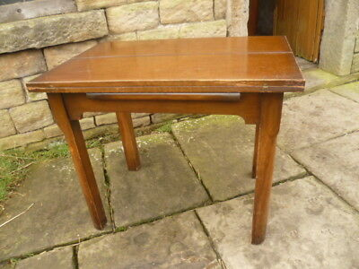 1930s Oak/Beech Extending Flip-Over Kitchen Table