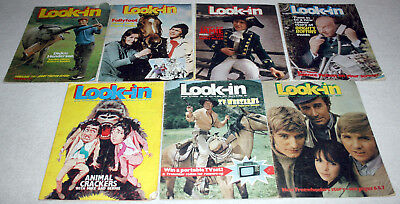 nice lot 7 x LOOK IN magazines from 1971