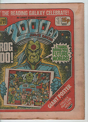 2000AD PROG. # 200 - THARG'S FUTURE WORLDS POSTER {PART 1} (21st FEBRUARY 1981)