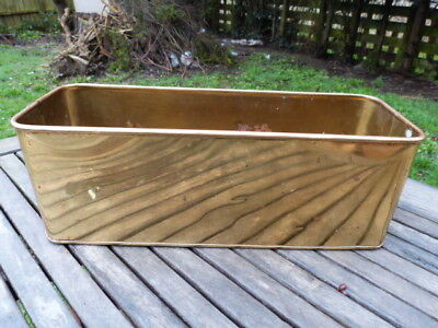 Lovely Vintage Brass Planter With Lion Head Handles.