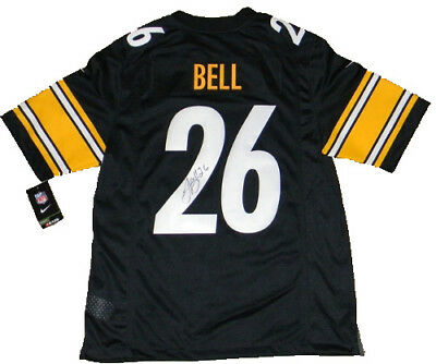 71b4a5a89 Le veon Leveon Bell Signed Pittsburgh Steelers  26 Black Nike Limited Jersey  Jsa