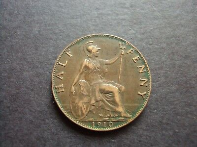 Great Britain Half Penny 1910 Xf Coin C153