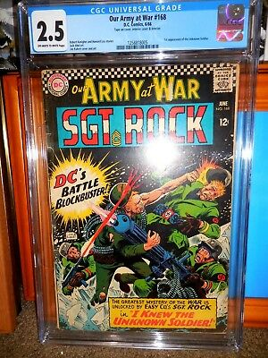 Our Army At War 168 Cgc 2.5 First Appearance Of The Unknown Soldier