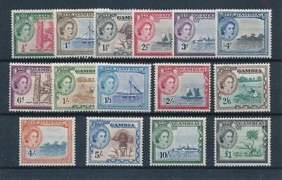 [36495] Gambia 1953 Good set Very Fine MNH stamps $100
