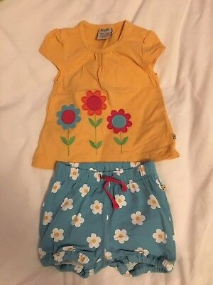 Lovely Frugi shirt and shorts outfit, 6-12 Months
