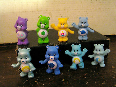 """8 Care Bears Collectable Figures Lot """" Sold As Is """""""