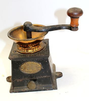 Antique Victorian BALDWIN SON & CO Cast Iron Coffee Mill Grinder - B37