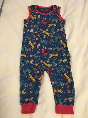 Fab Frugi Skippy Kitty Dungarees, 12-18 Months.