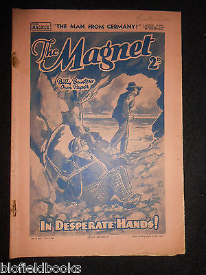 The Magnet; Billy Bunter's Own Paper - WWII Era Boy's Comic - April 27th 1940