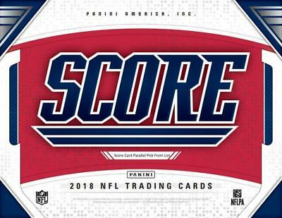 6e244a83011 2018 SCORE SCORECARD Football Parallel Cards Pick From List 251-440 With  Rookies -  1.50