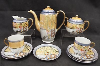 Japanese Hand Painted 11 Pieces COFFEE/ESPRESSO Set Made In Japan - B77