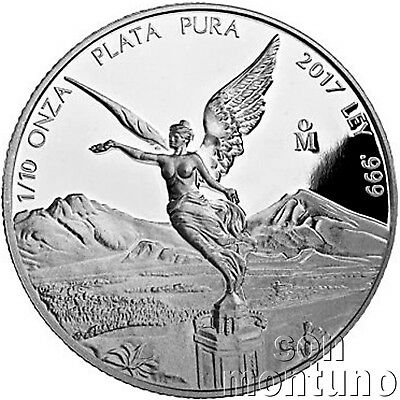 2017 Mexico - TENTH TROY OUNCE - Silver Libertad .999 1/10 Oz Mexican PROOF Coin