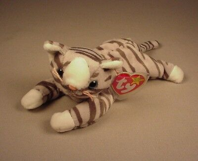 Ty Beanie Baby Babies Prance Grey Tabby Cat Gray Mint with Tags MWT NWT 1997