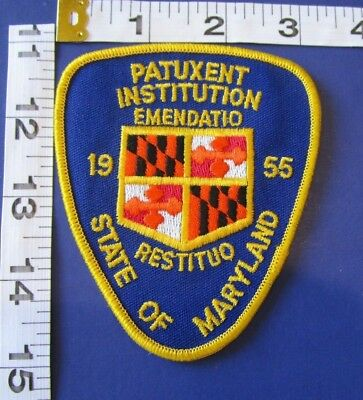 Maryland Ipatuxent Institution Police Shoulder  Patch