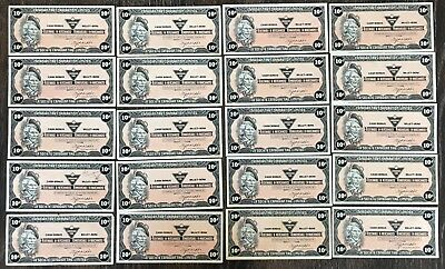 Lot of 20x 1985 Canadian Tire 10 Cents Notes ***Great Condition*** CTC-S7-C-B2