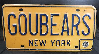 1950s New York Vanity License Plate for Bowdoin College * GOUBEARS