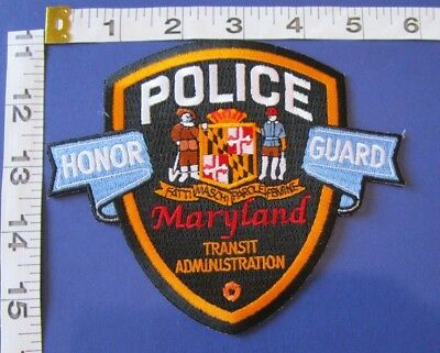 Maryland Transit Administration Honor Guard Police Shoulder  Patch