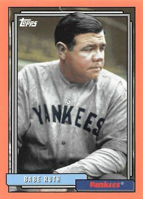 w/o Hat 2017 Topps Archives #225.1 1992 Babe Ruth New York Yankees Card