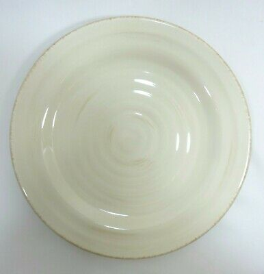Home Salad Luncheon Plate ADRIATIC Hand Painted Cream Embossed Rings 2008 - 2010