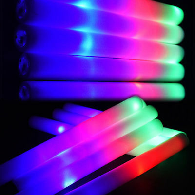 50~1000 PCS LED Foam Sticks Thunder Glow Stick Flashing Light Rave Party Cheer