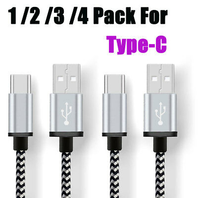10FT Braided Type C Fast Charging Cable USB-C Rapid Cord Power Charger Charge