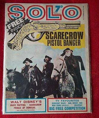 ULTRA RARE UK Comic SOLO 2 (1967) The Scarecrow Sgt Bilko The Man From UNCLE
