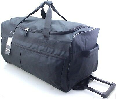 "Large 27"" Wheeled Sports Travel Holdall Luggage Cargo Weekend Business Bag Case"