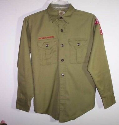Official Boy Scout Shirt, Long Sleeves, Springfield, Ill, 216
