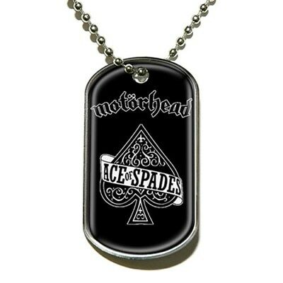 Official Merch Rock Metal DOG-TAG Necklace Pendant Chain MOTORHEAD Ace of Spades