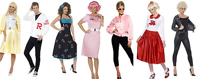 b8a9d8c04300 Grease Costume Ladies Mens Fancy Dress Outfit 1950s Licensed Grease Outfit  T Bir