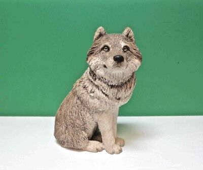 SANDICAST Wolf Sculpture M501 Hand Cast Painted Sandra Brue 1995