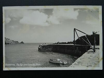 Cornwall Penwith Peninsula LAMORNA Pier & Carn Du Point - Old RP Postcard