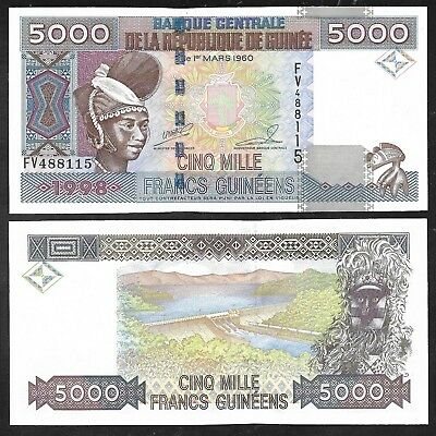 Republic of Guinea - 5000 Francs Note (1985)  P33 - Flawless Unc.