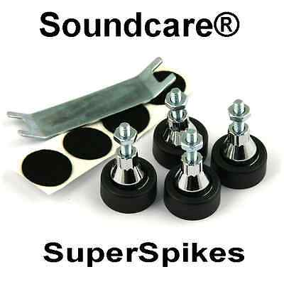 1 Set M8  SoundCare SuperSpikes Speaker / Loudspeaker  Spikes.NEW